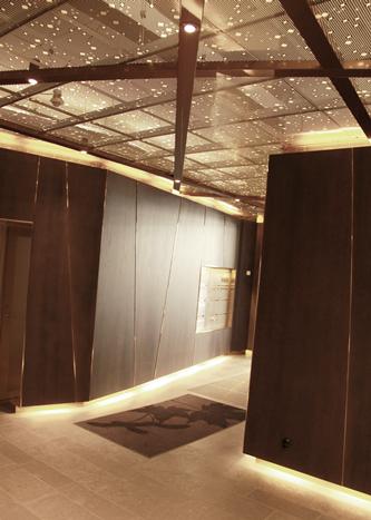 Undertak i stålplåt lackerad i mässingliknande kulör