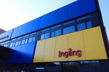 Fasadkassetter till IKEA:s varuutlämning